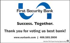 Best Bank 2018- First Security Bank