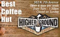 Best Coffee Hut 2018- Higher Ground