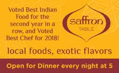 Best Indian Food 2018- Saffron Table