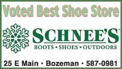 Best Shoe Store 2018- Schnee's Boots