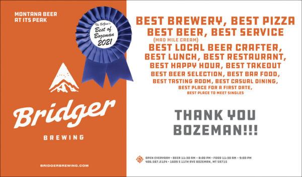 Bridger Brewing Best of Bozeman