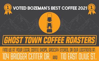 Ghost Town Coffee Roasters Best of Bozeman Best coffee roasters 2021